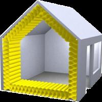 geisoleerd huis