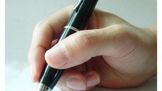 pen met hand